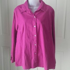 Chico's size 3 Additions pink long sleeve top